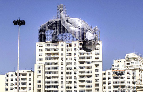 Olympic high jumper billboard