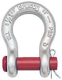 G213 crosby round pin anchor shackle