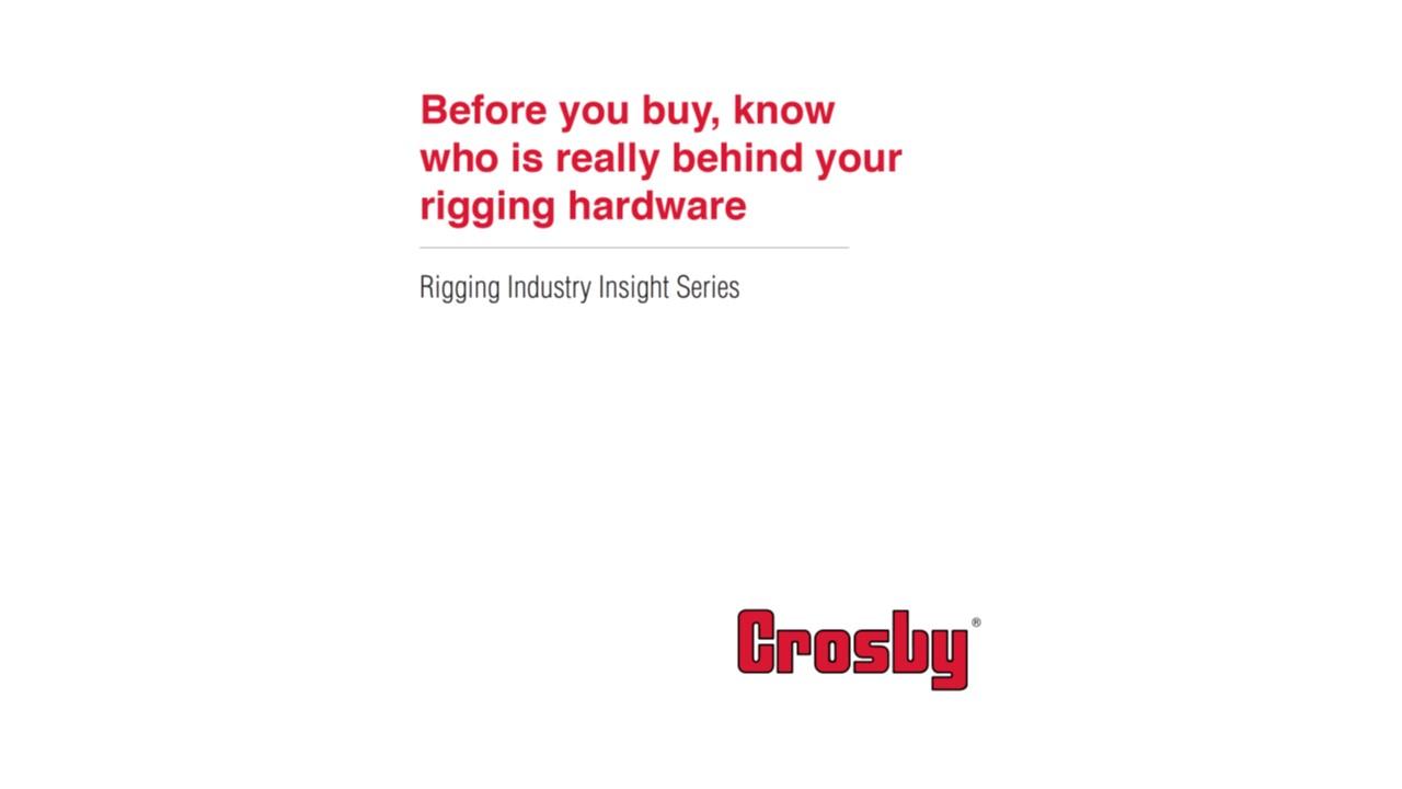 Crosby Rigging Whitepaper